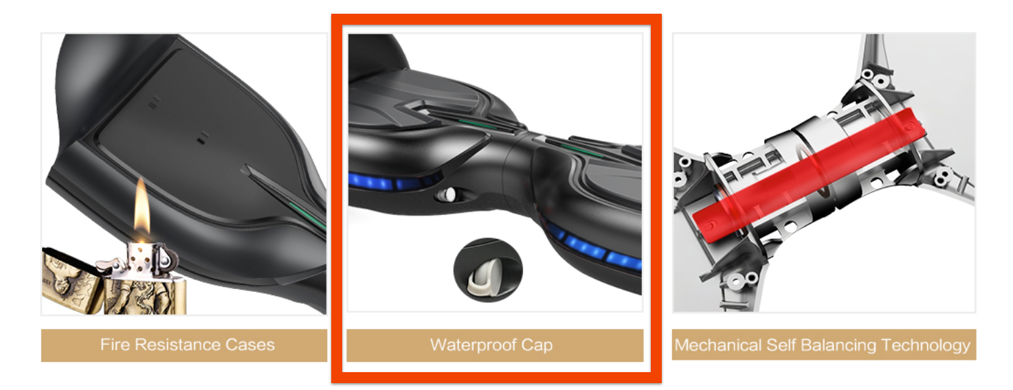 Tomoloo water resistant hoverboards