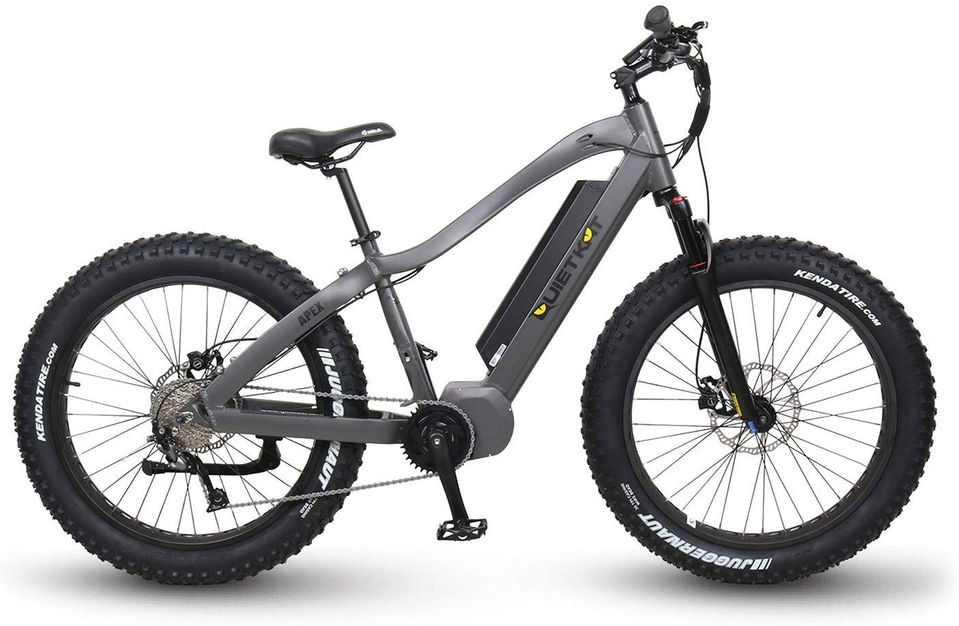 QuietKat Fastest Fat Tire Electric Bike Charcoal