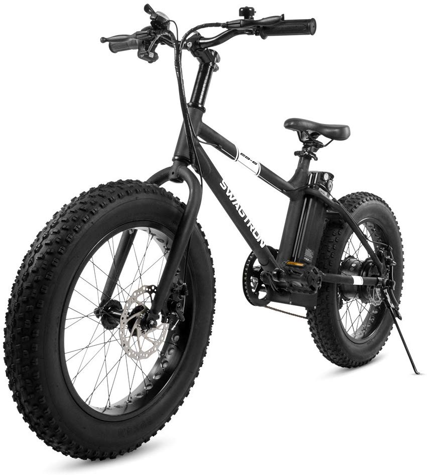 Swagtron EB-6 Bandit Fat Tire Electric Bike