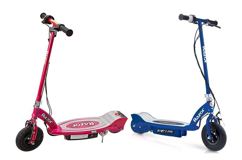 cheapest electric kids scooter e100 vs e125