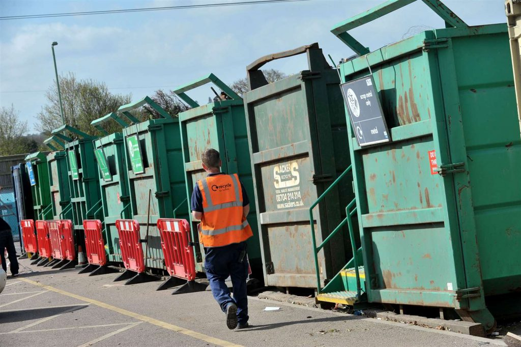 Recycling centre in the UK