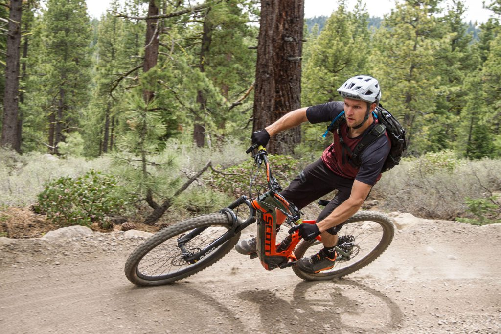 offroad electric bike on dirt trail