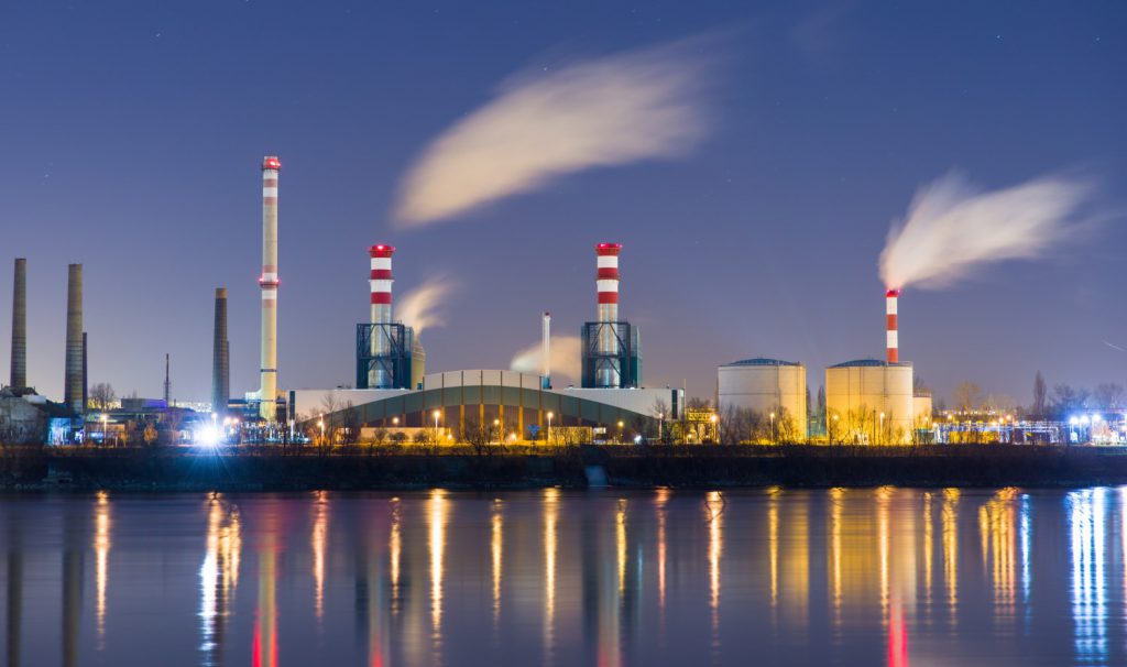 Power plant generating energy in the US